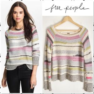 Free People Montmarte Striped Sweater NEW S